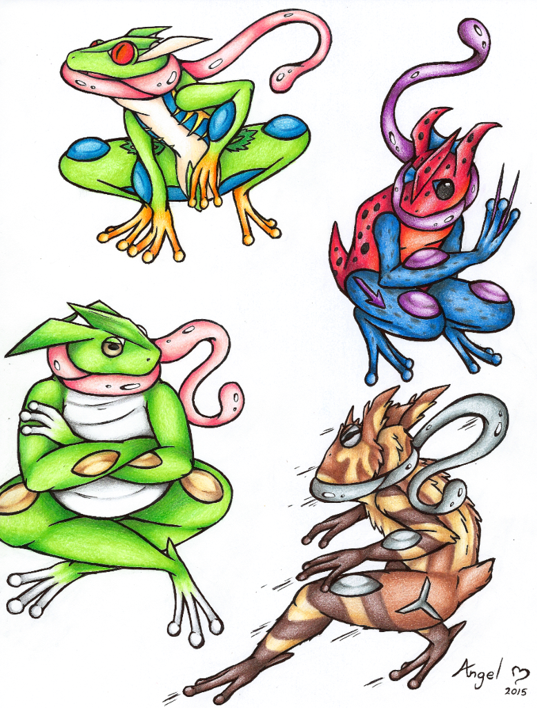 Greninja Variations By Angel Moonlightwolf On DeviantArt