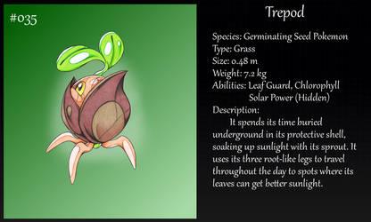 #035 Trepod Pokemon by Angel-Moonlightwolf