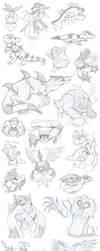 Gen 5 Pokemon Sketch Dump - Part 2 by Angel-Moonlightwolf