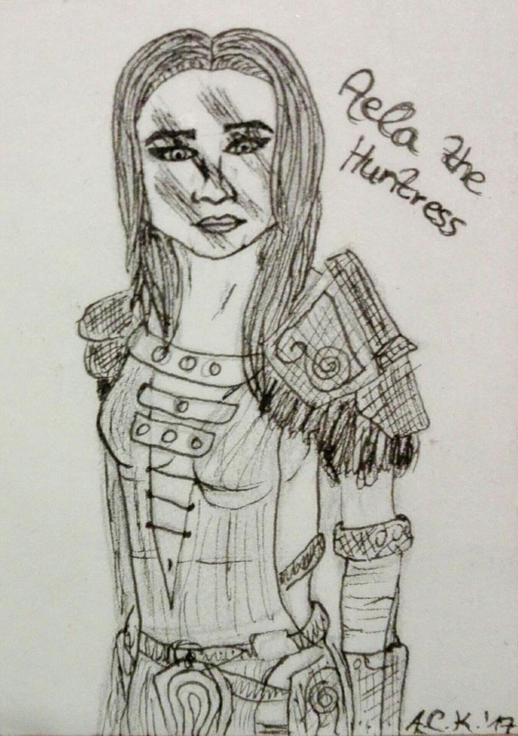 Aela The Huntress by 4ntoniax3