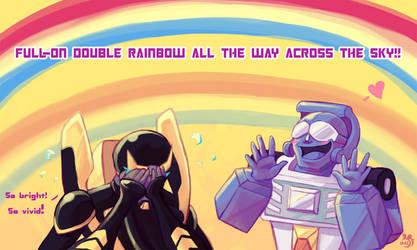 TF: Double Rainbow omg by Mazzlebee