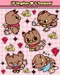 Lil' Gryphon Hearts Treasure