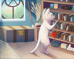 Cat Study by Mazzlebee
