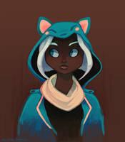 Fox Hood by Mazzlebee