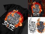 T-shirt design artwork #japan