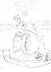 Moon and Ice Princess by ChocolateJuju
