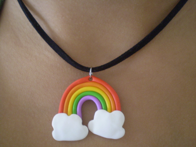 Rainbow necklace by Shatya