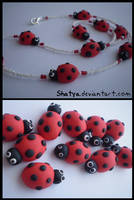 Fimo ladybugs by Shatya