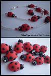 Fimo ladybugs