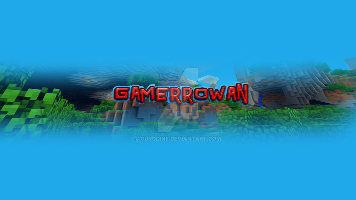 gamerrowan s youtube banner by curodine on deviantart