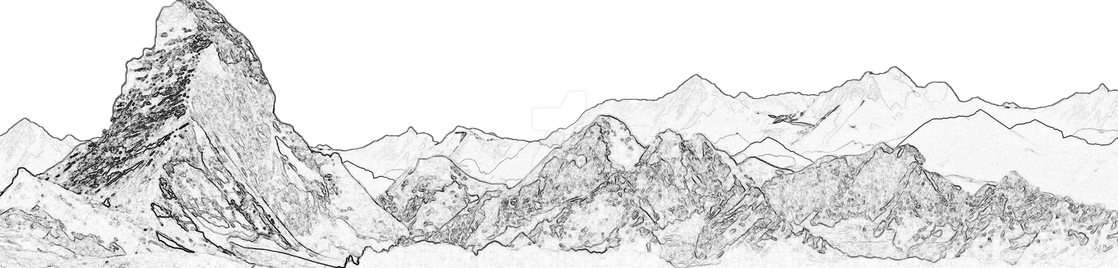 Line Drawing Mountain : Mountains lineart by cookiegirl on deviantart