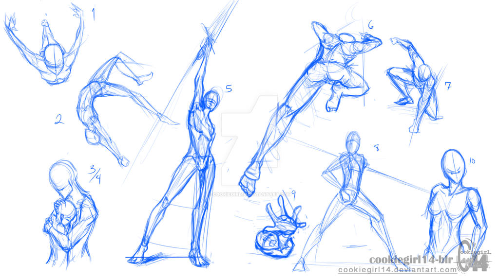 Super Character Design Poses Pdf : Pose sketches by cookiegirl on deviantart