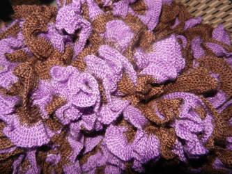 Purple truffle scarf (detail) by GrumpyBrosCrafts