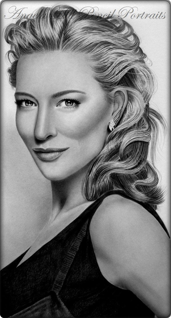 CATE BLANCHETT by AngelasPortraits