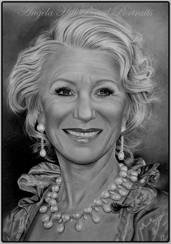 HELEN MIRREN by AngelasPortraits
