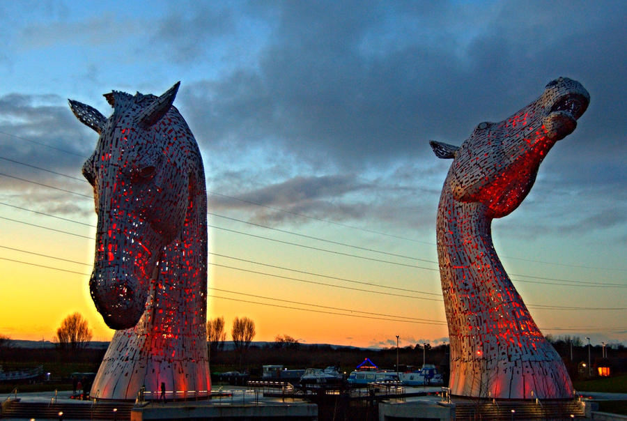 The Kelpies by AngelasPortraits