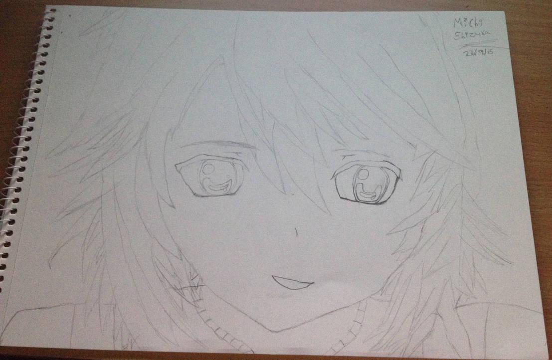 Anime manga girl pencil sketch 2 michi shizuka by shizukashimai