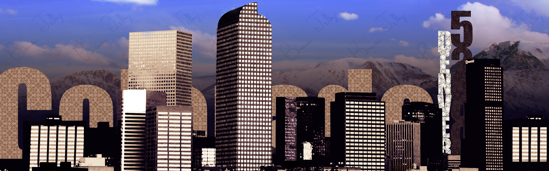 denver skyline art. denver skyline dual monitor wp by blivion art