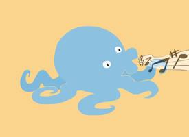 Musical Squid Thing by FancyFerret