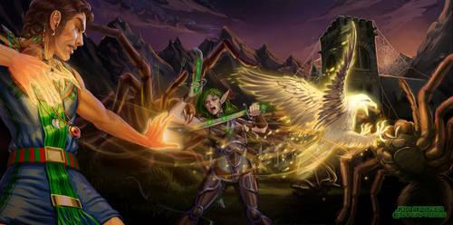 Spiderweb village raid by Luis-Salas