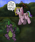 Spike has a crush on RARITY