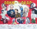 Dawn of the Dead cast painting