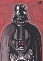 Darth Vader sketch card by tdastick