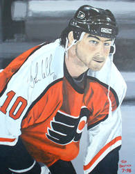 John LeClair signed painting by tdastick