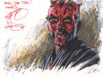 Darth Maul signed by Ray Park