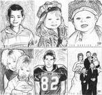 Family Personal Sketch Cards 1