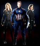 Captain America , Quake and Mockingbird
