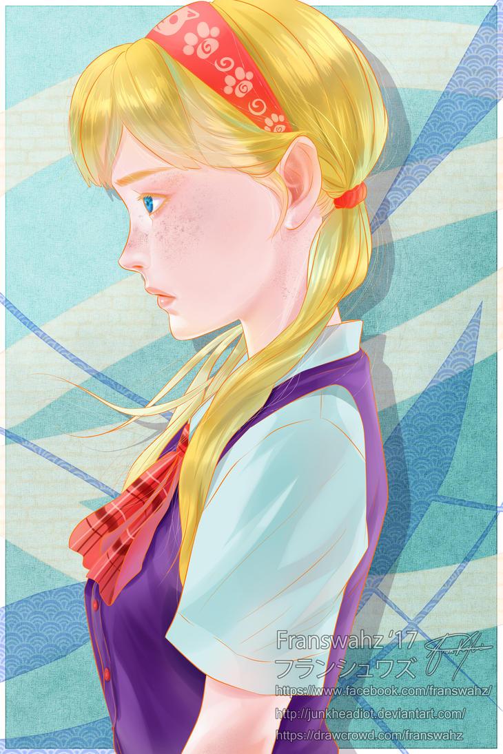 Simple School Girl by junkheadiot
