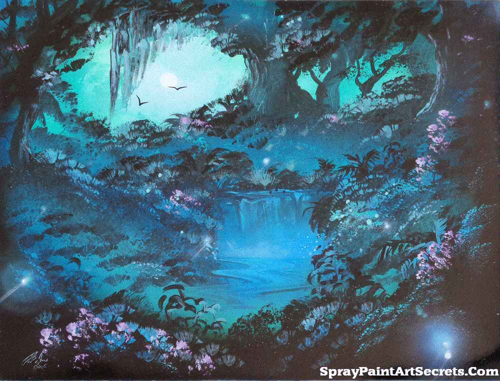 Night Fantasy Spray Paint Art Secrets By Alisaamor On Deviantart