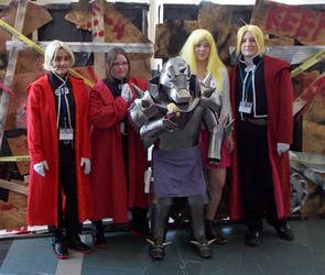Fullmetal Alchemist group with Alphonse Elric