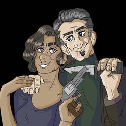 a power couple by EllieDarkside