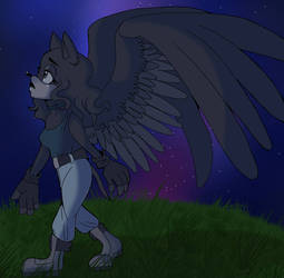 (redraw) midnight stroll by EllieDarkside