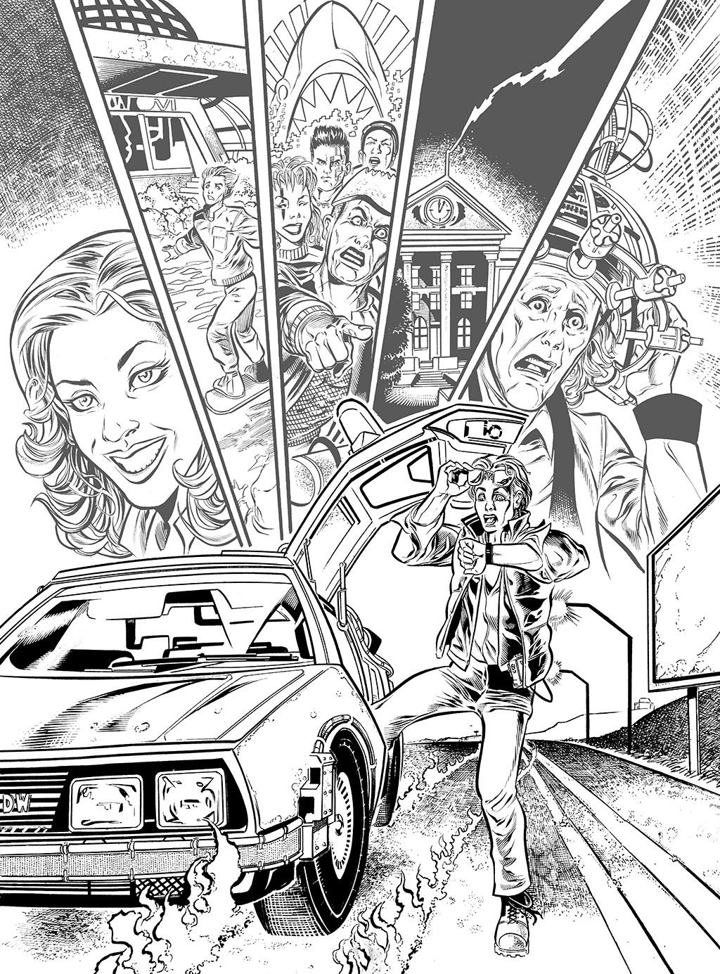 Back to the future SAMPLE INKS by RogerBonetMartinez on DeviantArt