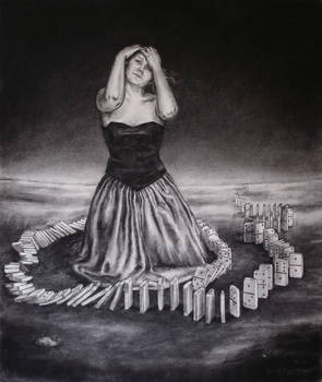 The domino girl