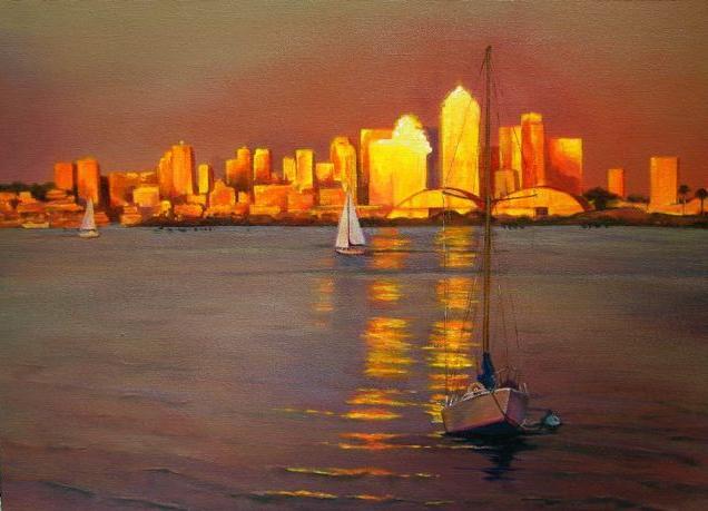San Diego Skyline by terriwilson