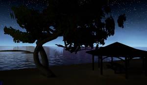 Night Time On Wahoo beach 1 by Pumpkin-Days-Game
