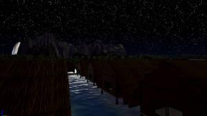 Night Time On Wahoo beach 3 by Pumpkin-Days-Game