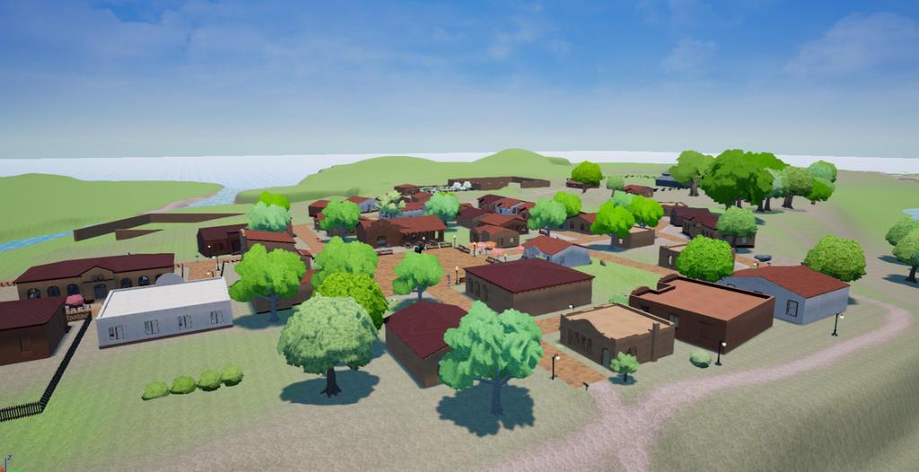 Pumpkin Online Pumpkinvale town in progress by Pumpkin-Days-Game