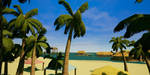 Palm trees by the beach by Pumpkin-Days-Game