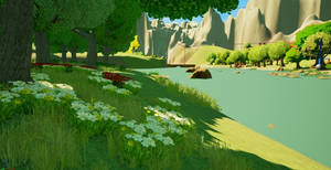 Flowers by the River by Pumpkin-Days-Game