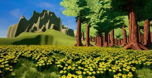 Flowers in the Forest by Pumpkin-Days-Game