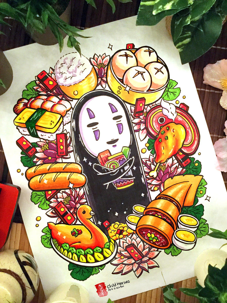 spirited away ghibli fanart no face by childheroes on