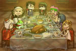 A Manly Christmas Dinner.