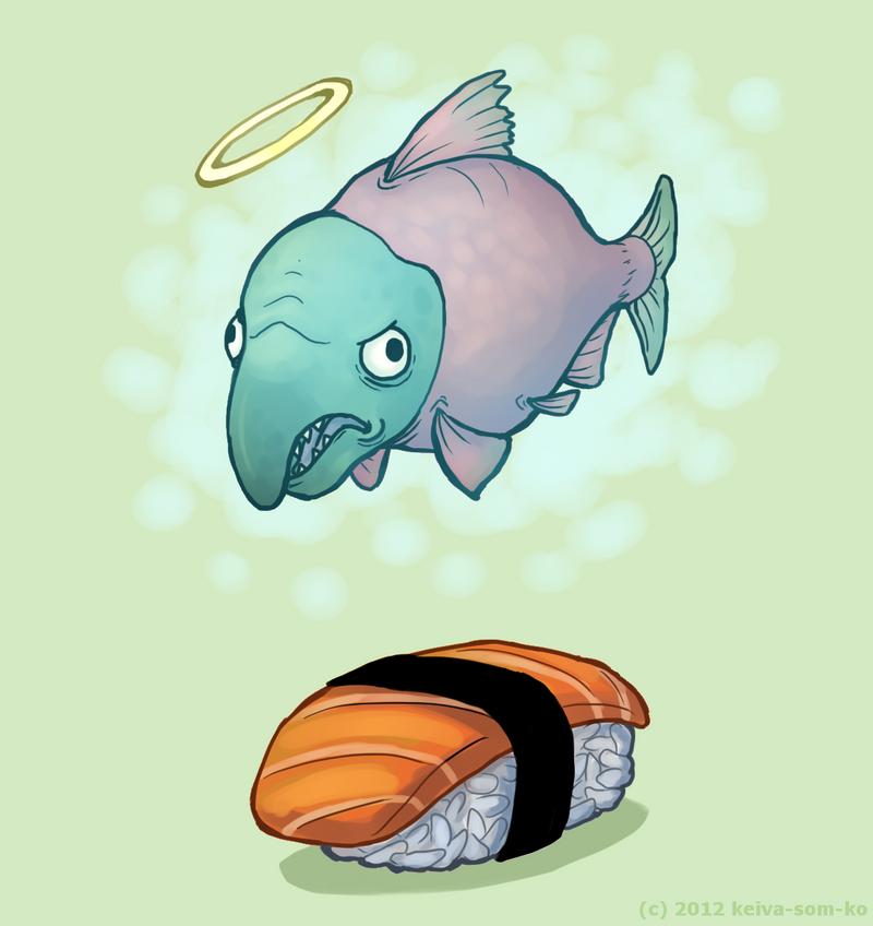 sushi ghost by Jackarais