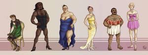 PRETTY DRESS LINEUP