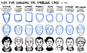 Tips For Drawing the Sherlock Cast